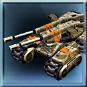Schwerer Panzer der GDI. Langsam, aber sehr effektiv.