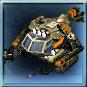 Schweres Unterstützungsfahrzeug mit 2 Guardian Kanonen, einem Raketenwerfer, modernen Stealth-Ortungssystemen und automatischen Reoeraturdrohnen.